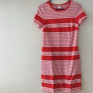 Old Navy Red and white striped dress